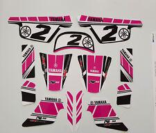 Sticker kit deco moto cross pour Yamaha PW50 PW 50 PINK GIRLY Qualité Standard