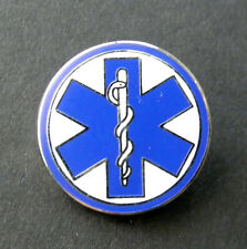 EMT EMS PARAMEDIC ROUND LAPEL PIN BADGE 7/8 INCH