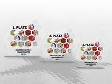 3er Fussball Glaspokale mit Deinem LOGO und TEXT Glaspokale günstig kaufen