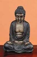 BUDDHA FIGUR 29cm HÖHE BRAUN FENG SHUI STATUE MODELL SKULPTUR TISCH NEU