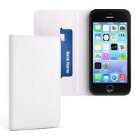 Tasche für Apple iPhone SE / 5 / 5S Cover Handy Schutz Hülle Case Etui Weiß