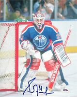 Grant Fuhr signed 8x10 photo PSA/DNA Edmonton Oilers Autographed