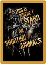 "Rivers Edge Products Tin Sign Shootin' Animals, Size 12"" x 17"""