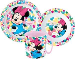 Minnie Mouse Dishes Set Cutlery Set Breakfast Children Disney Kindergarten