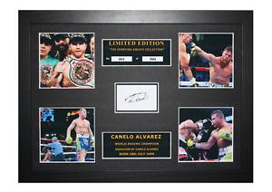 Canelo Alvarez Signed Ltd Edition Framed Picture Memorabilia