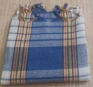 "Turkish Peshtemal 100% Cotton 30"" x 60"" Beach Towel Made in Turkey - Blue"
