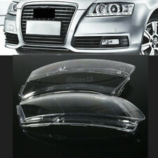 Pair Car Headlight Lens Lampshade PC Shell Cover Replacement For Audi A6 C6