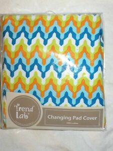 NIP Trend Lab Colorful Changing Pad Cover 100% Cotton