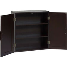 Wall Cabinet Storage Bathroom Shelf Dark Espresso Wood Organizer Display Home