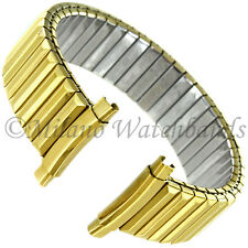 16-22mm Speidel Gold Tone Stainless Twist-O-Flex Curved Mens Band LONG 515/32