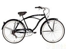 """Micargi 7 speed 26"""" Pantera Men beach cruiser bicycle bike Black"""