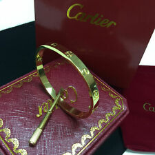 Cartier 18K Yellow Gold Love Bracelet Size 18 Bangle