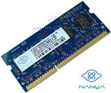 Nanya 2GB DDR3 Laptop Notebook RAM 204p PC3-10600 CL9 8c 256x8 DDR3-1333 SODIMM