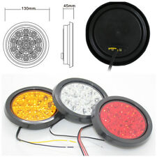 1PC 16-LED 12V 24V Round Yellow Tail Lights Back-up Reverse Lamps for Truck Car