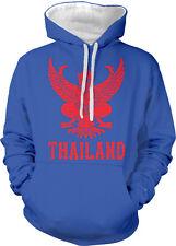 Thailand Symbol Thai Distressed Country Born From THA Two Tone Hoodie Sweatshirt