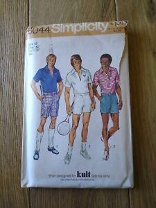 Simplicity Pattern 5044 Men Size 36 Shorts 2 Lengths Pullover Shirt UNCUT 1973