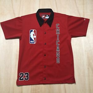 100% Authentic Michael Jordan Nike Bulls Warm Up Shirt Jersey Size M Medium Mens