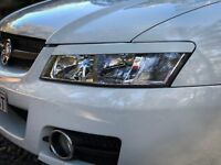 "ABS PLASTIC HOLDEN COMMODORE/HSV ""VY"" HEAD LIGHT EYE LID/ EYE BROWS SS/S/R8/GTS"