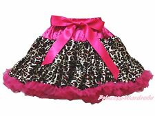 Hot Pink Leopard Animal Print Adult Women Lady Dance Party Tutu Pettiskirt