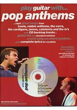 Partition+CD pour guitare - Play Guitar Wit Pop Anthems