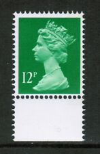 GB 1986 SG X897Ea 12p brt Emerald band at right, Machin DX7 booklet MNH