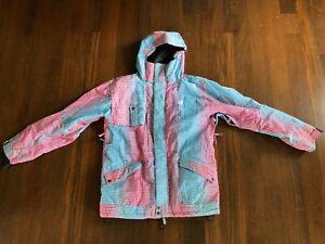 686 x KR3W Ski/Snowboard Jacket - Size L - Aqua/Pink - Used