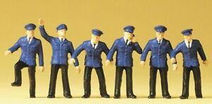 Preiser 14012 Bahnpersonal DB 6 Figuren H0 Neu