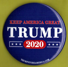"2020 Donald Trump 3"" / ""Keep America Great"" Presidential Campaign Button(Pin 01)"