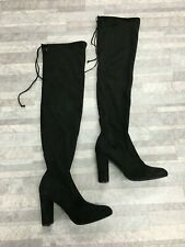 Dune London Sibyl Leather Knee High Boots Color Black Size: 8 M