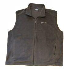Men's Columbia gray fleece vest Size 2XL / XXL Full zip front EUC
