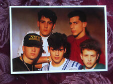 New Kids on the Block postcards 3 glossy 1980's time period