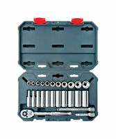 Crescent  3/8 in.  SAE  6 and 12  Socket Wrench Set  25 pc.
