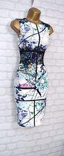 ~RIVERA~ Black Lace Floral Midi Wiggle Pencil Bodycon Evening Party Dress 14