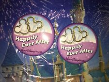 Walt Disney World Just Married Two Happily Ever After Pins Buttons,
