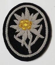 WWI WW2 German Elite Edelweiss flower patch uniform insignia Mountain climbers