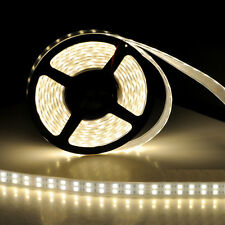 5M Double 2 Row Waterproof 5050 SMD Warm White 600 LEDs Flexible Strip Ligh