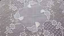 Tour De Force Stitching Pina Cloth Lace & Embroidery Handkerchief, Four Birds