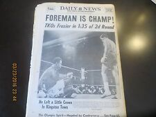 1/23/1973 -  NY NEWSPAPER - FOREMAN DEFEATS FRAZIER - FOR HEAVYWEIGHT CROWN