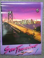 Night Time City Of San Francisco California Poster - Golden Gate Bridge