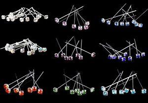 Florist Quality Diamante Pins Luxury Crystal Diamonte 1.5 4mm 6, 12, 36