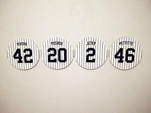 "New York Yankees ""Core Four"" Magnet Set Rivera, Jeter, Posada, Pettitte - 4 inch"