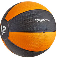 AmazonBasics Weighted 12 lb Medicine Ball for Full Body Workout Training