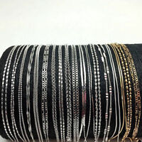 Wholesale 925 Sterling Silver Chain Necklace Jewellery For Women Men 16-30 inch
