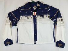 774a3d139 Cumberland Outfitters Women's Shirt Western Shirt Blue & White XL Long  Sleeve