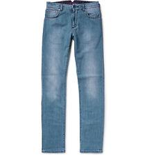 Isaia Mens Slim-Fit Selvedge Stretch Denim Jeans Sz 38R BNWT
