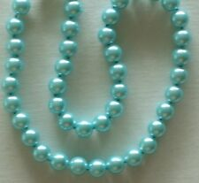 """10MM Sea Foam Blue South Sea Shell Pearl Necklace 18"""" NEW (silk gift bag)"""