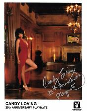 CANDY LOVING 25th ANNIVERSARY PLAYBOY PLAYMATE SEXY RARE SIGNED PHOTO  (CN5)