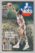 1983/84 NEW JERSEY NETS OFFICIAL YEARBOOK MEDIA PRESS GUIDE BUCK WILLIAMS COVER