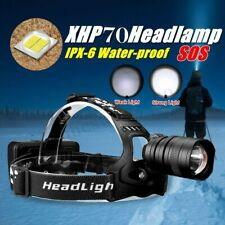 Super Bright 250000LM XHP 70 LED Headlamp Zoom USB Rechargeable 18650 Headlight