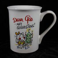 Dear God Kids Coffee Mug Cup Any Suggestions? Christmas Tree 2007